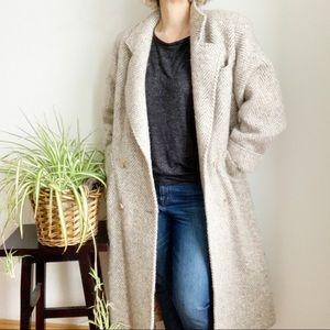 Vtg Castle Island Irish Tweed Long Coat Size 10